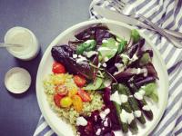 cukkini és bulgur saláta